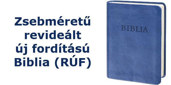 Zsebméretű Revideált új fordítású Biblia (RÚF)