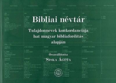 Bibliai névtár (Papír)