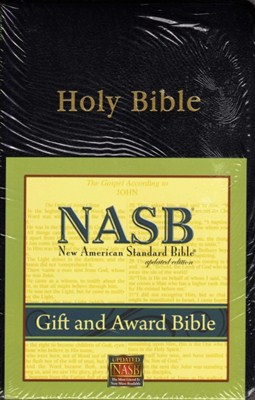 Angol Biblia New American Standard Bible Gift and Award - Black (Leather look / puhakötés)