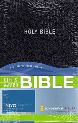 Angol Biblia New International Version Gift and Award - Black (Leather look / puhakötés)