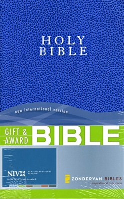 Angol Biblia New International Version Gift and Award Bible - Blue (Leather look / puhakötés)