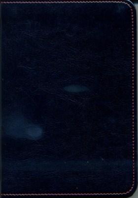 Biblia revideált Károli kicsi exkluzív (sötétkék) (díszvarrott műbőr ezüst szegéllyel)