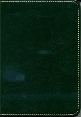 Biblia revideált Károli kicsi exkluzív (sötétzöld) (díszvarrott műbőr ezüst szegéllyel)