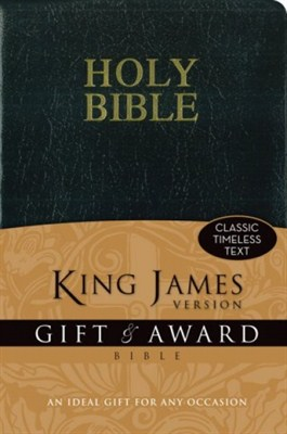 Angol Biblia King James Version Gift and Award Bible - Black (leather look paperback / puhakötés)