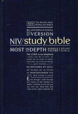 Angol Biblia New International Version Study Bible, Hardback, Navy