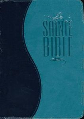 Francia Biblia Segond, türkiz/sötétkék, puhatáblás (puha műbőr)