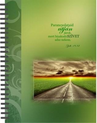 jegyzetfüzet Parancsolataid útján járok (Spirálozott)