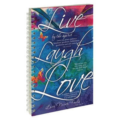 jegyzetfüzet Live Laugh Love (Spirálozott)
