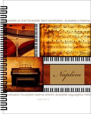 jegyzetfüzet zongorás (Spirálozott)
