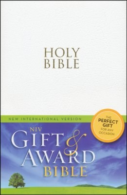 Angol Biblia New International Version Gift and Award - White (Leather look / puhakötés)