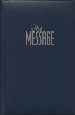 Angol Biblia The Message: The Bible in Contemporary Language Numbered Edition, Blue, Padded, Hardback Text Bible