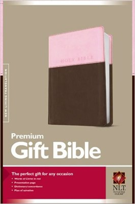Angol Biblia New Living Translation Premium Gift Bible Pink / Dark Brown