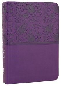 Angol Biblia New King James Version Large Print Compact Reference Bible Purple LeatherTouch (Imitation Leather)