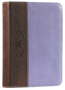 Angol Biblia King James Version Large Print Compact Bible Brown/Purple LeatherTouch Imitation Leather (Imitation Leather)
