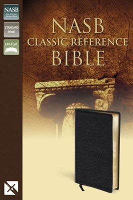 Angol Biblia New American Standard Giant Print Reference Bible, Personal Size, Imitation Leather, Black, Indexed (Bonded Leather)