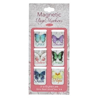 Mágneses könyvjelzőcsomag pillangók