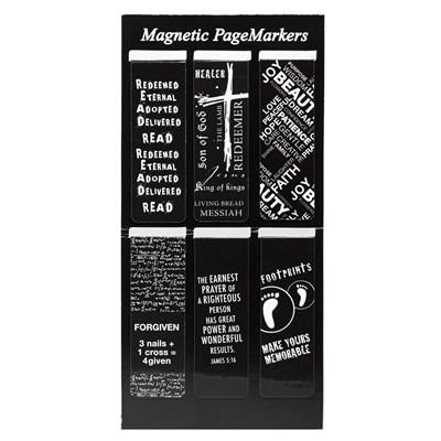 Mágneses könyvjelzőcsomag fekete-fehér Footprints (Csomag)