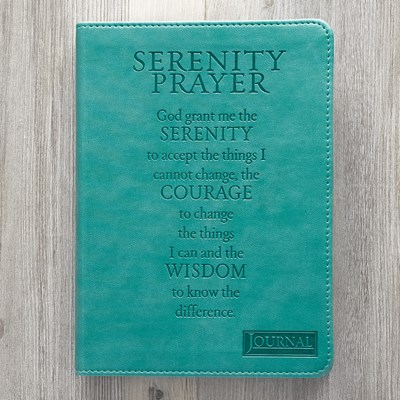 Exkluzív műbőr angol napló Serenity Prayer (Lux Leather)