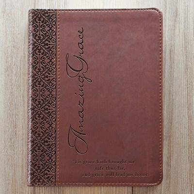 Exkluzív műbőr angol napló Amazing Grace (barna) (Lux Leather)