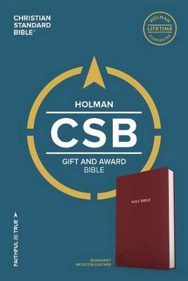 Angol Biblia Christian Standard Bible Gift and Award Bible Burgundy