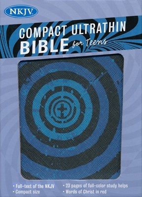 Angol Biblia New King James Version Compact Ultrathin for Teens Blue Vortex