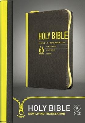 Angol Biblia New Living Translation Zips Bible Yellow Canvas