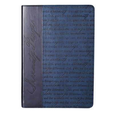 Exkluzív műbőr angol napló Serenity Prayer sötétkék (Lux Leather)