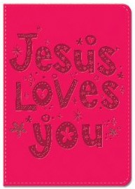 Exkluzív műbőr angol napló Jesus Loves You (Lux Leather)