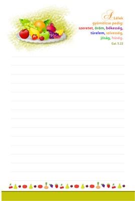 jegyzettömb A Lélek gyümölcse (ragasztott)