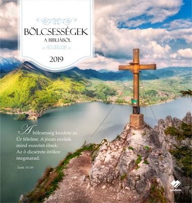 Nagyméretű falinaptár 2019 Bölcsességek a Bibliából (Füzetkapcsolt)