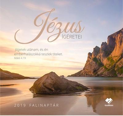 Közepes falinaptár 2019 Jézus ígéretei (Füzetkapcsolt)