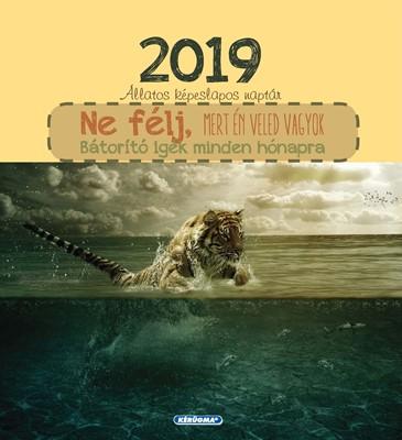 Képeslapos falinaptár 2019 Ne félj, mert én veled vagyok (Spirálozott)