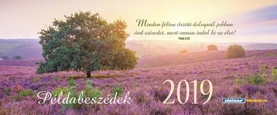 Közepes asztali naptár 2019 Példabeszédek (Spirálozott)