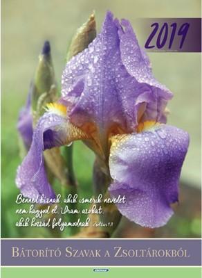 Nagyméretű falinaptár 2019 Bátorító szavak a Zsoltárokból (Spirálozott)