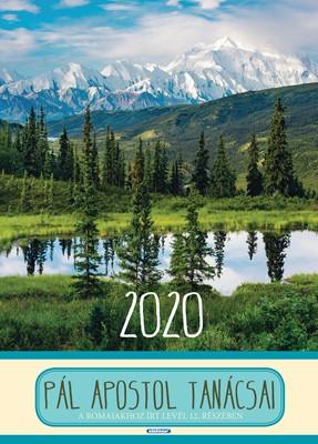 Nagyméretű falinaptár 2020 Pál apostol tanácsai (Spirálozott)