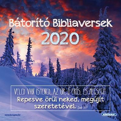 Négyzetes falinaptár 2020 Bátorító bibliaversek (Spirálozott)