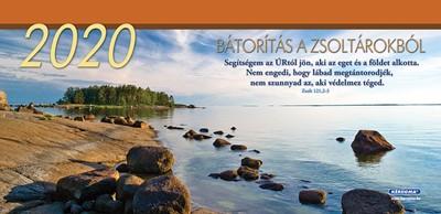 Nagyméretű asztali naptár 2020 Bátorítás a Zsoltárokból (Spirálozott)