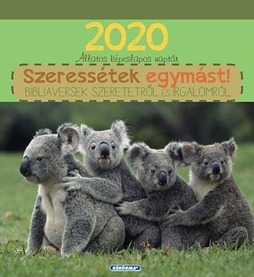 Képeslapos falinaptár 2020 Állatos naptár (Spirálozott)