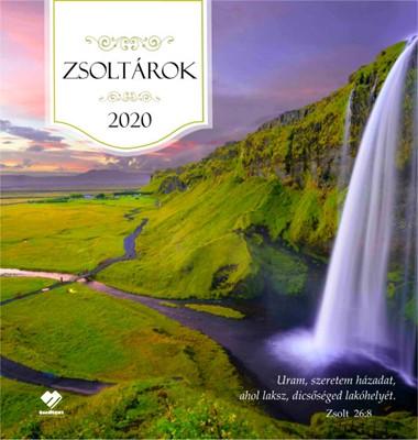 Nagyméretű falinaptár 2020 Zsoltárok (Füzetkapcsolt)