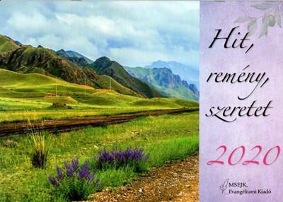 Nagyméretű falinaptár 2020 Hit, remény, szeretet (Füzetkapcsolt)