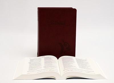 Biblia revideált Károli középméretű, bordó (Műbőr)