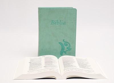 Biblia revideált Károli középméretű, olívazöld (Műbőr)