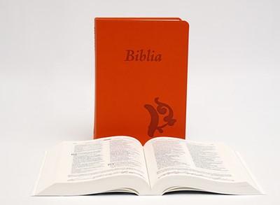 Biblia revideált Károli középméretű, narancssárga (Műbőr)