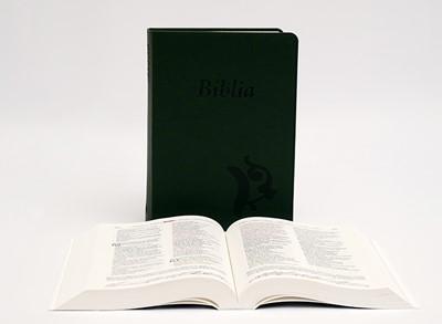 Biblia revideált Károli középméretű, sötétzöld (Műbőr)