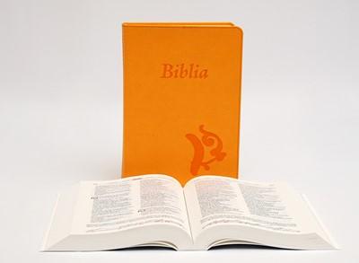 Biblia revideált Károli középméretű, sárga (Műbőr)