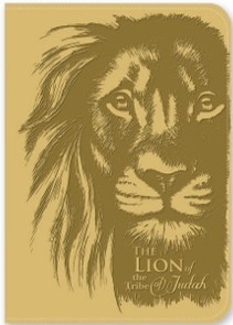 Exkluzív műbőr angol napló Júda oroszlánja (Lux Leather)