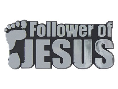 Autóembléma Follower of Jesus ezüst