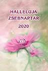 Zsebnaptár 2020 rózsaszín virág (Füzetkapcsolt)
