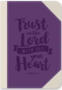 Exkluzív műbőr angol napló Bízz az Úrban teljes szívedből (Lux Leather)