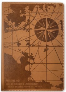 Exkluzív műbőr angol napló Térkép (Lux Leather)